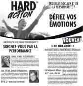 Hard Action - echantillon publicitaire, anne delemotte, édition, 2011