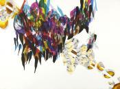 -- Noctiluma, 2012 76 x 56 cm Aquarelle, encre de chine, feutres sur papier / wa