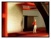 Femme blonde, photo intérieur du cerf, 2006.