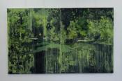 Paysage-immersion 12 bis, huiles sur toile, 260x160 cm, 2016, Franck Populaire