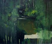 Paysage-immersion 17, huiles sur toile, 153x130 cm, 2016, Franck Populaire