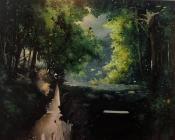 Paysage-immersion 14, huiles sur toile, 150x120 cm, 2015, Franck Populaire