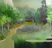 Paysage-immersion 7, huiles sur toile, 140x130 cm, 2011, Franck Populaire