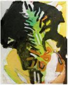 Jean-Charles FAREY. Télescopage (l'artiste dessinant d'après modèles /Gauguin...