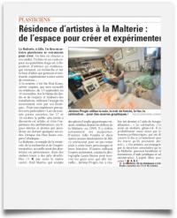 Article de La Voix Du Nord sur la malterie et ses artistes résidents.