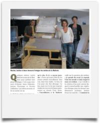 Article de Nord Eclair sur 3 artistes résidents de la malterie