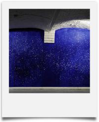 Vincent Herlemont : constellations, 2006 - encre et effaceur d'encre - 200 x 400
